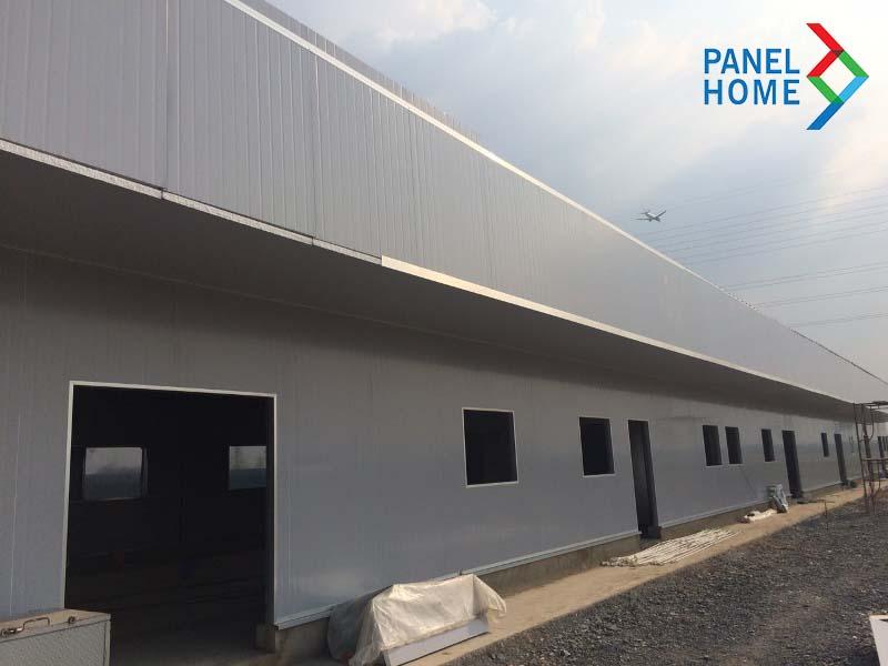 Panel Home thi công nhà xưởng nhà máy Sanaky bằng panel EPS cách nhiệt